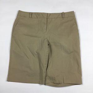 Talbots Beige Bermuda Khaki Shorts Womens Size 14